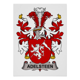 Adelsteen Family Crest Print