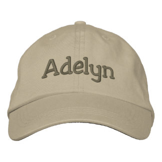 Adelyn Name Embroidered Baseball Cap Khaki