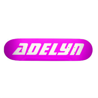 Adelyn, Personalized Skateboard Skate Deck