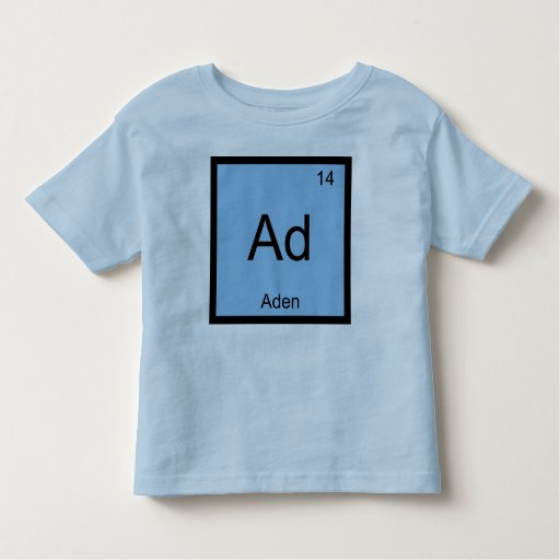 Aden Name Chemistry Element Periodic Table Toddler T-shirt