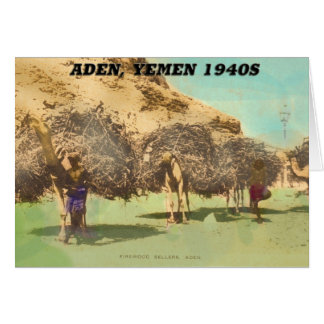 Aden Yemen Firesellers, 1940s Card