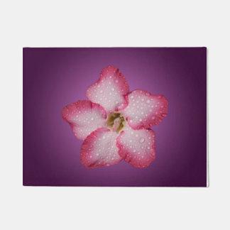 Adenium Pink Flower Flora Gradient Violet Doormat