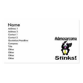 Adenosarcoma Stinks Skunk Awareness Design Business Card