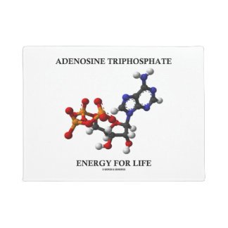 Adenosine Triphosphate (ATP) Energy For Life Doormat
