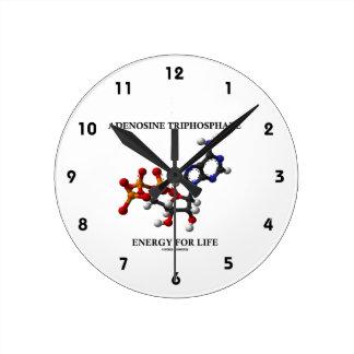 Adenosine Triphosphate (ATP) Energy For Life Round Clock