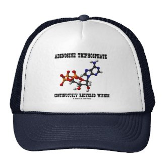Adenosine Triphosphate Continuously Recycled (ATP) Trucker Hats