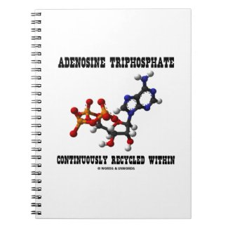 Adenosine Triphosphate Continuously Recycled (ATP) Spiral Note Book