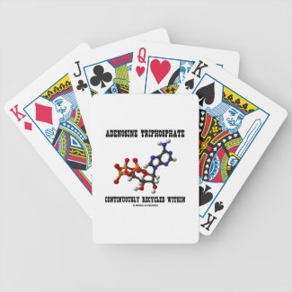 Adenosine Triphosphate Continuously Recycled (ATP) Bicycle Playing Cards