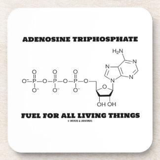 Adenosine Triphosphate Fuel For All Living Things Beverage Coasters
