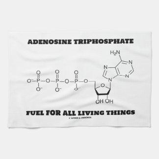 Adenosine Triphosphate Fuel For All Living Things Towel