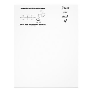 Adenosine Triphosphate Fuel For All Living Things Letterhead Template