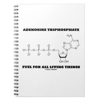 Adenosine Triphosphate Fuel For All Living Things Spiral Notebook