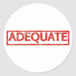 Adequate Stamp Classic Round Sticker