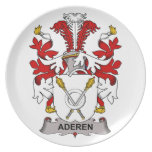 Aderen Family Crest Party Plates