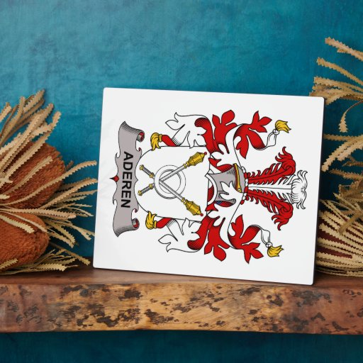 Aderen Family Crest Photo Plaques
