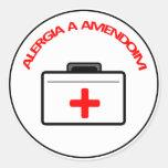 Adesivo: Alergia a Amendoim Classic Round Sticker