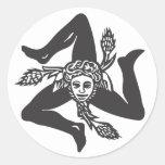 Adesivo Circolare TRINACRIA Round Stickers