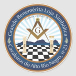 Adesivo Freemason CARN Pegatina Redonda