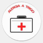 Adesivo Médico: Alergia a Trigo Classic Round Sticker