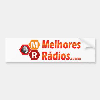 Adesivo para automóveis do Portal Melhores Rádios
