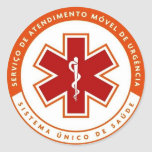Adesivo símbolo SAMU 192
