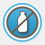 Adesivo: Símbolo Sem Leite Classic Round Sticker