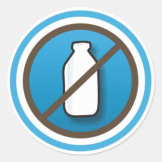 Adesivo: Símbolo Sem Leite Round Sticker