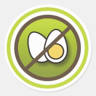Adesivo: Símbolo Sem Ovos Classic Round Sticker