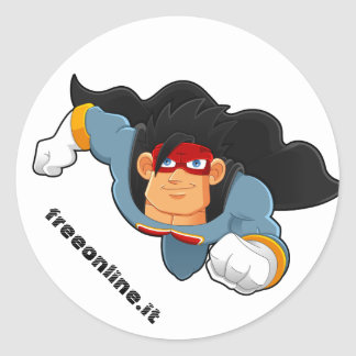 Adesivo tondo freeonline.it classic round sticker