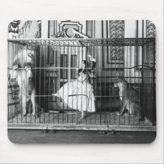 Adgie and Her Trained Lions1897 Mouse Pad