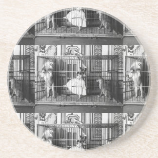 Adgie and Her Trained Lions Vintage Circus 1897 Coaster