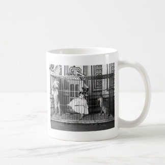 Adgie and Her Trained Lions Vintage Circus 1897 Coffee Mug
