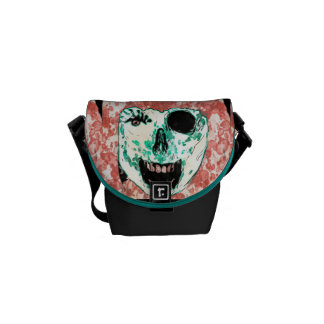 ADH Zombie Watercolor Small Messenger Bag