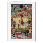 Adham Khan paying homage to Akbar at Sarangpur, Ce Cards