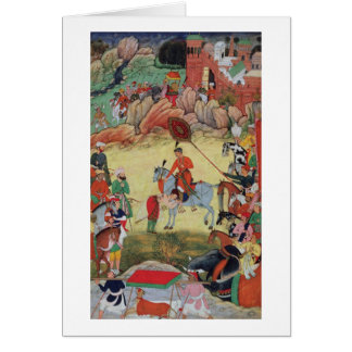 Adham Khan paying homage to Akbar at Sarangpur, Ce Greeting Card