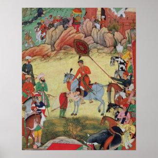 Adham Khan paying homage to Akbar at Sarangpur, Ce Poster
