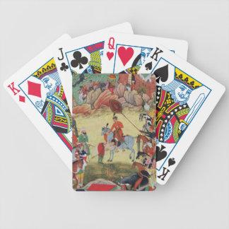 Adham Khan que paga homenaje a Akbar en Sarangpur, Baraja Cartas De Poker