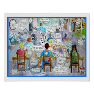 ADHD Awareness Poster-Great for your Classroom! Poster