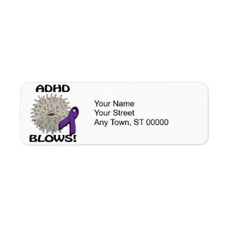 ADHD Blows Awareness Design Return Address Label