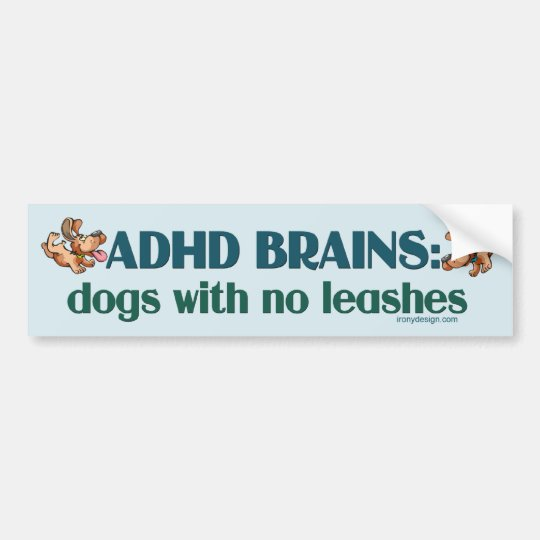 ADHD BRAINS (blue) Bumper Sticker