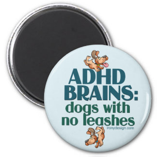 ADHD BRAINS (blue) Magnet