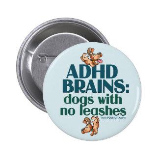 ADHD BRAINS (blue) Pinback Button