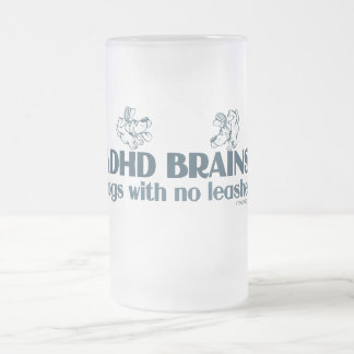 ADHD BRAINS FROSTED GLASS BEER MUG
