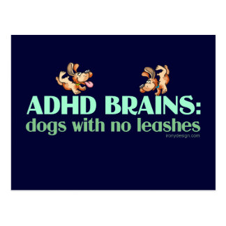 ADHD BRAINS POSTCARD