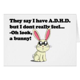 ADHD bunny Greeting Card