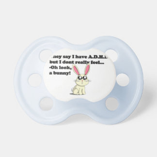 ADHD bunny Pacifiers