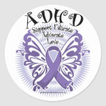 ADHD Butterfly 3 Classic Round Sticker