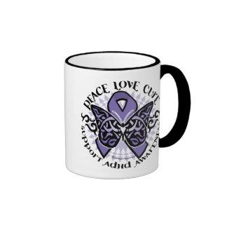 ADHD Butterfly Tribal 2 Mugs