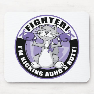 ADHD Cat Fighter Mouse Pad