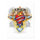 ADHD Cross & Heart Postcards